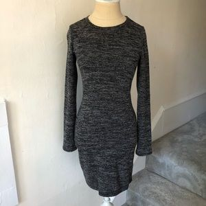 Lulu's Heathered Long Sleeve Knit Bodycon Dress